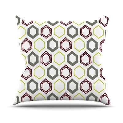 Hexy Small Throw Pillow Size: 16 H x 16 W