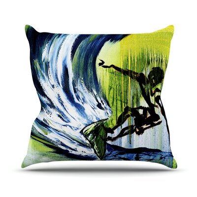 Greenroom by Josh Serafin Throw Pillow Size: 18 H x 18 W x 3 D