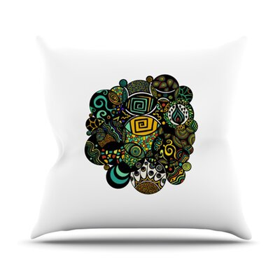 Multicolor Life Throw Pillow Size: 16 H x 16 W