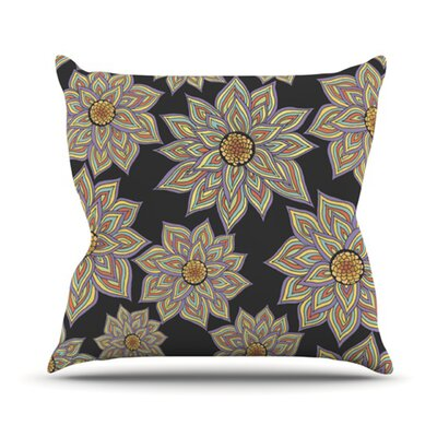Throw Pillow Size: 18 H x 18 W, Color: Floral Dance In The Dark