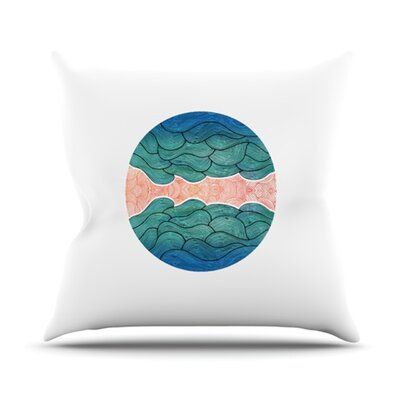 Ocean Flow Throw Pillow Size: 18 H x 18 W