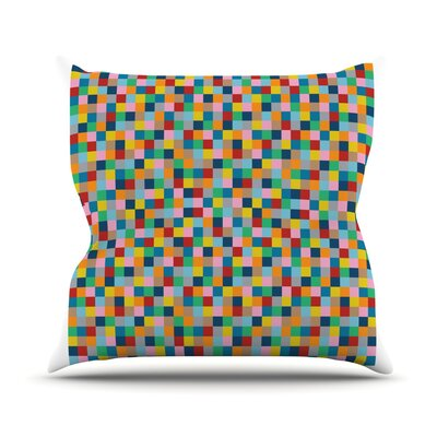 Colour Blocks Throw Pillow Size: 26 H x 26 W