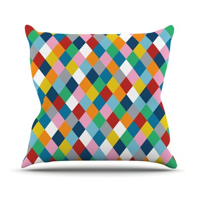 Harlequin Zoom Throw Pillow Size: 18 H x 18 W