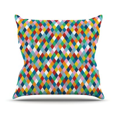 Harlequin Throw Pillow Size: 26 H x 26 W