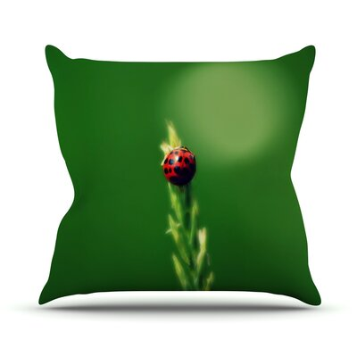 Ladybug Hugs Throw Pillow Size: 16 H x 16 W