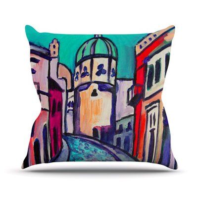 Procida Teal Throw Pillow Size: 26 H x 26 W