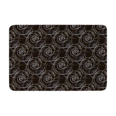 Mydeas Nautical Breeze Spiral Swirls Pattern Memory Foam Bath Rug