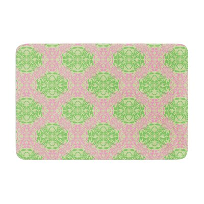 Mydeas Diamond Illusion Damask Watermelon Memory Foam Bath Rug