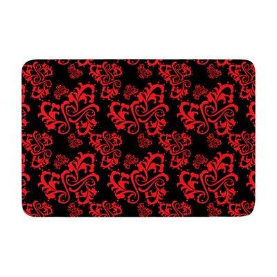Mydeas Sweetheart Damask Pattern Memory Foam Bath Rug Color: Red
