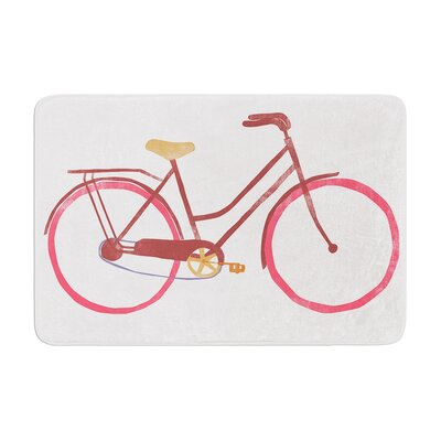 Alik Arzoumanian Bike Memory Foam Bath Rug