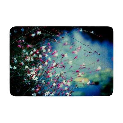 Ann Barnes Monets Dream Flower Memory Foam Bath Rug