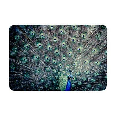 Ann Barnes Majestic Peacock Feather Memory Foam Bath Rug