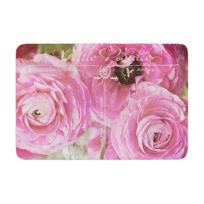 Ann Barnes Paris Postcard Flowers Memory Foam Bath Rug