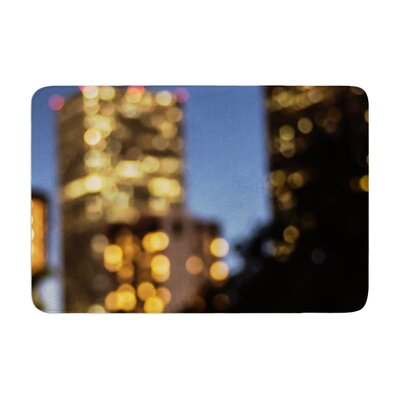 Ann Barnes Nola at Night City Lights Memory Foam Bath Rug