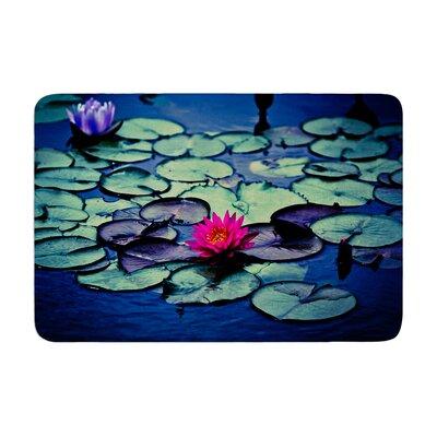 Ann Barnes Twilight Water Lily Memory Foam Bath Rug