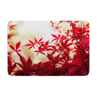 Ann Barnes September Afternoon Leaves Memory Foam Bath Rug
