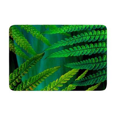 Alison Coxon Forest Fern Plant Memory Foam Bath Rug Color: Green