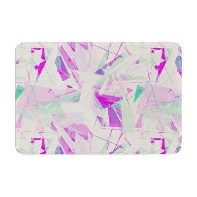 Alison Coxon Shatter Memory Foam Bath Rug Color: Purple