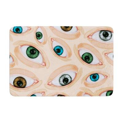 Alisa Drukman Eyes Eyeballs Memory Foam Bath Rug