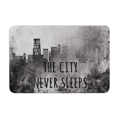 Alison Coxon the City Never Sleeps Memory Foam Bath Rug