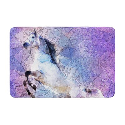 Ancello Abstract Horse Memory Foam Bath Rug