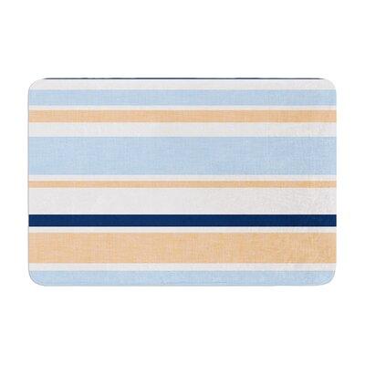 Alison Coxon Jack Tar Memory Foam Bath Rug Color: Blue/Orange