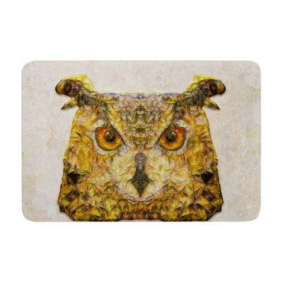Ancello Abstract Owl Memory Foam Bath Rug