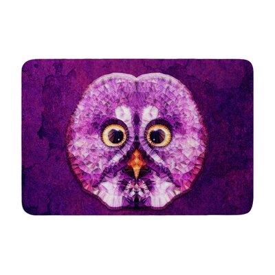 Ancello Hoot! Owl Memory Foam Bath Rug