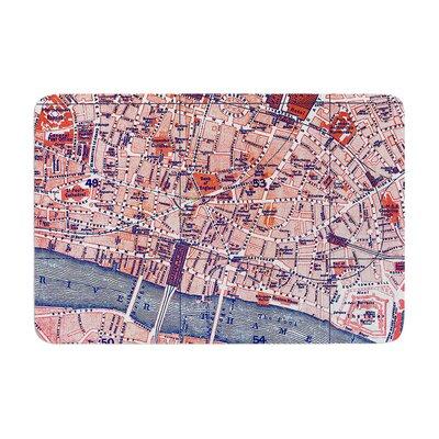 Alison Coxon City of London Map Memory Foam Bath Rug