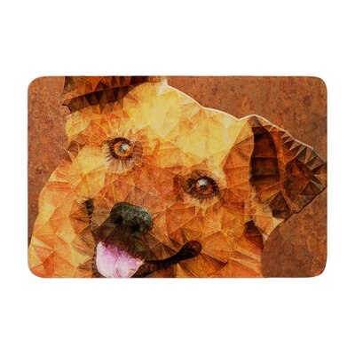Ancello Abstract Puppy Geometric Memory Foam Bath Rug