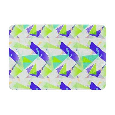 Alison Coxon Confetti Triangles Memory Foam Bath Rug Color: Green/Teal
