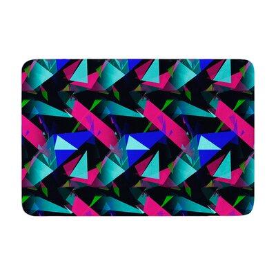 Alison Coxon Confetti Triangles Memory Foam Bath Rug Color: Magenta/Blue