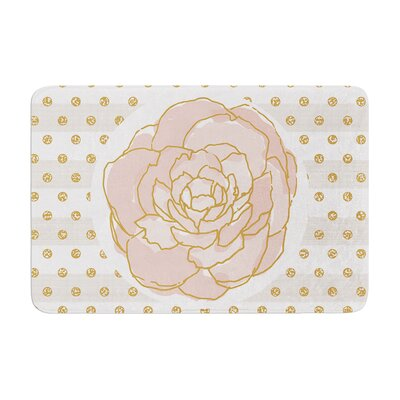 Pellerina Design Watercolor Peony Floral Memory Foam Bath Rug