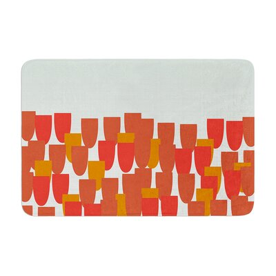 Pellerina Design Sunrise Poppies Memory Foam Bath Rug