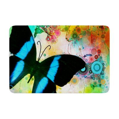 AlyZen Moonshadow Colorful Butterfly Memory Foam Bath Rug