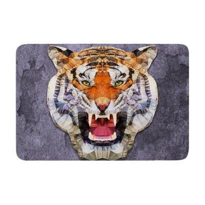 Ancello Abstract Tiger Memory Foam Bath Rug