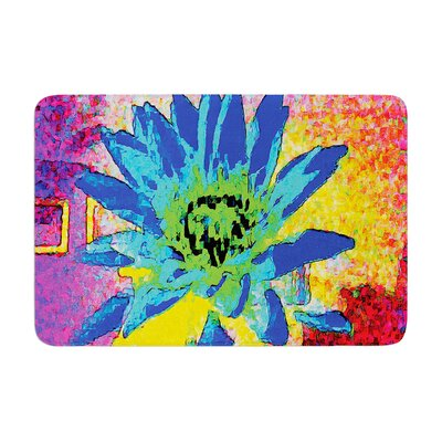 Anne LaBrie Wild Lotus Flower Memory Foam Bath Rug