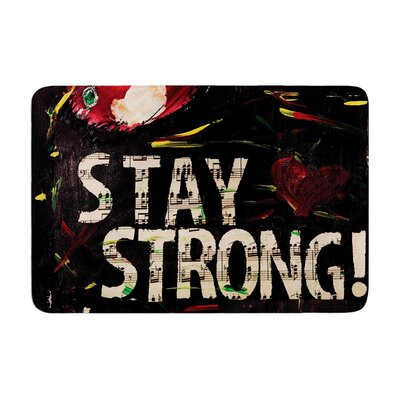 Alexa Nicole Stay Strong Memory Foam Bath Rug
