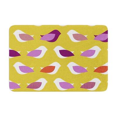 Pellerina Design Orchid Birds Memory Foam Bath Rug