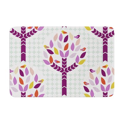 Pellerina Design Orchid Spring Tree Abstract Memory Foam Bath Rug