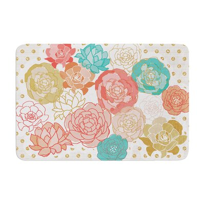 Pellerina Design Spring Florals Peony Memory Foam Bath Rug