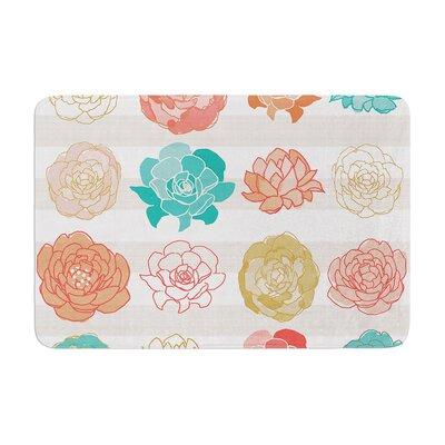 Pellerina Design Flower Square Floral Memory Foam Bath Rug