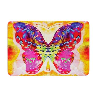 Anne LaBrie Butterfly Spirit Memory Foam Bath Rug