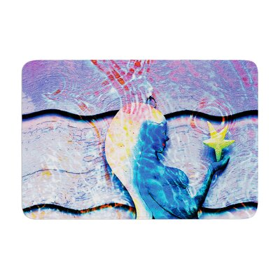 Anne LaBrie Mermaid Starlight Memory Foam Bath Rug