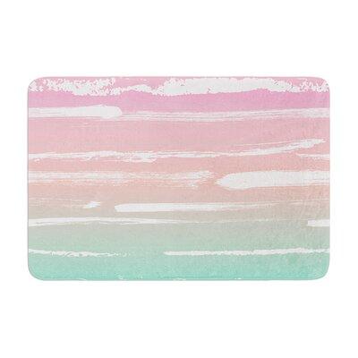 Anneline Sophia Painted Stripes Memory Foam Bath Rug Color: Pink