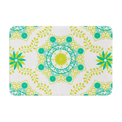 Anneline Sophia Lets Dance Memory Foam Bath Rug Color: Green/Teal