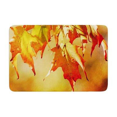 Angie Turner Autumn Leaves Vibrant Memory Foam Bath Rug