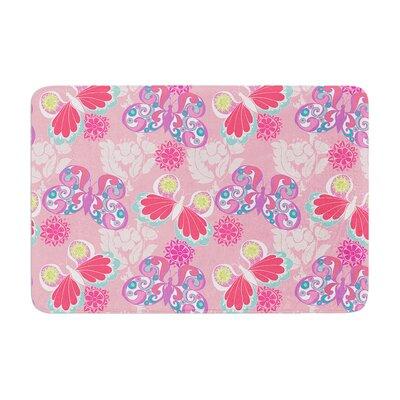 Anneline Sophia Baroque Butterflies Memory Foam Bath Rug