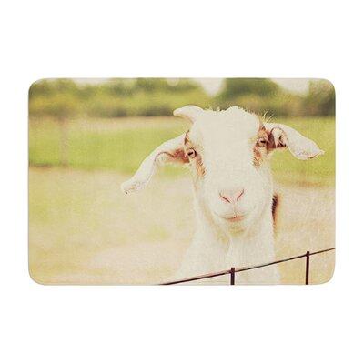 Angie Turner Happy Goat Smiling Animal Memory Foam Bath Rug