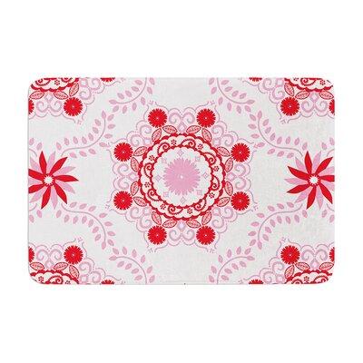 Anneline Sophia Lets Dance Memory Foam Bath Rug Color: Red/Pink